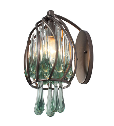 Varaluz Area 51 1 Light Sconce in New Bronze 151K01NB photo