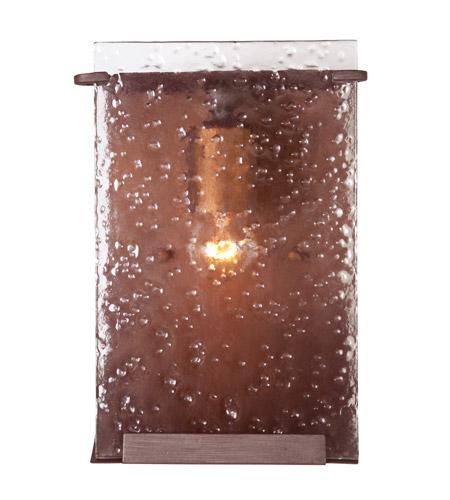 Varaluz 160B01HO Rain 1 Light 7 inch Hammered Ore Vanity Wall Light