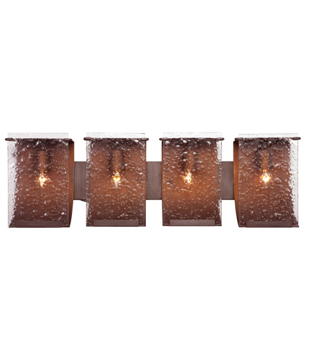 Varaluz 160B04HO Rain 4 Light 32 inch Hammered Ore Vanity Wall Light photo