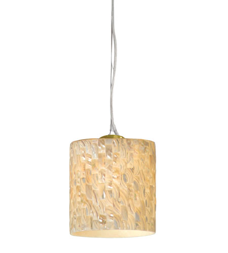 Varaluz Naturals 1 Light Mini Pendant in Gold Dust 161M01AC photo