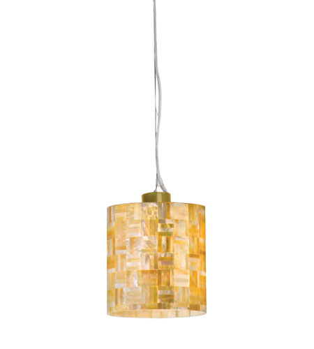 Varaluz Naturals 1 Light Mini Pendant in Gold Dust 163M01AC photo