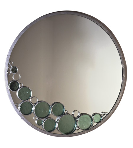 Varaluz Fascination Mirror in Nevada Silver with Random Silver Leafing 165A01 photo