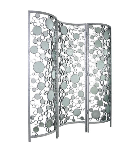 Varaluz Fascination Room Divider in Nevada Silver with Random Silver Leafing 165A04 photo