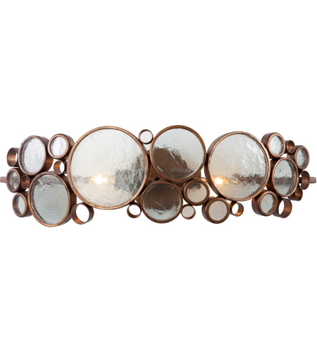 Varaluz Fascination 2 Light Vanity in Hammered Ore 165B02HO photo