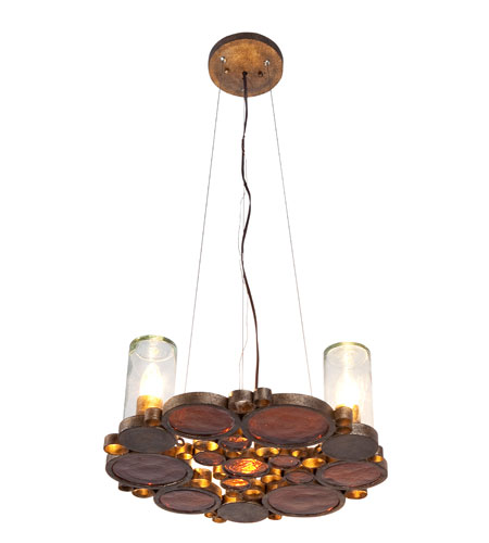 Varaluz Fascination 3 Light Chandelier in Kolorado 165C03KO photo