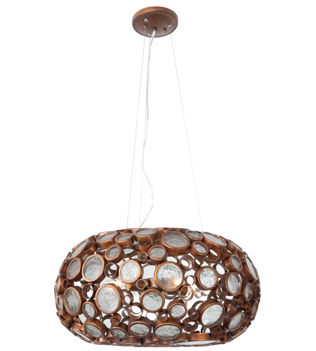Varaluz 165C04HO Fascination 4 Light 24 inch Hammered Ore Chandelier Ceiling Light photo