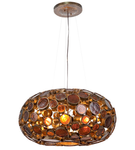Varaluz 165C04KO Fascination 4 Light 24 inch Kolorado Chandelier Ceiling Light photo