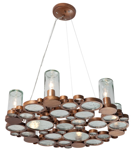 Varaluz Fascination 6 Light Chandelier in Hammered Ore 165C06HO photo