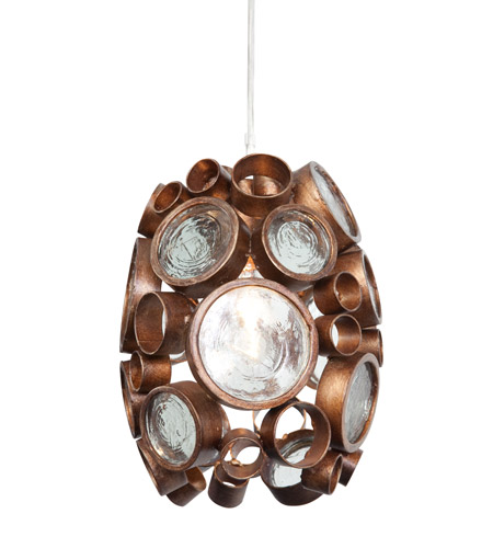 Varaluz 165M01HO Fascination 1 Light 7 inch Hammered Ore Mini Pendant Ceiling Light photo