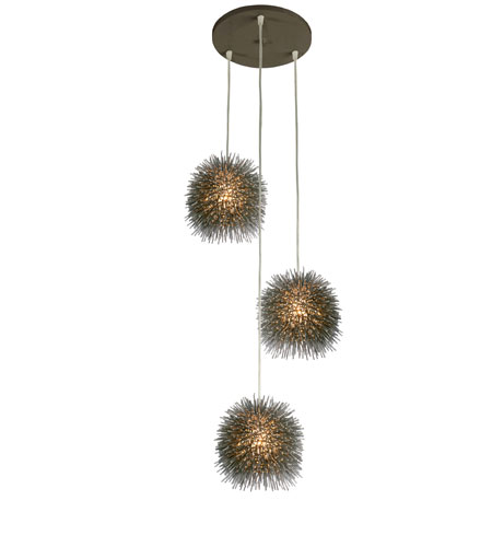 Varaluz Urchin 3 Light Mini Pendant in Painted Chrome 169F03SCH photo