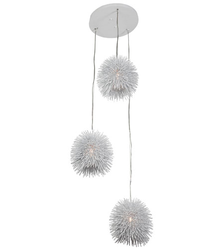 Varaluz Urchin 3 Light Pendant in White 169F03WH photo