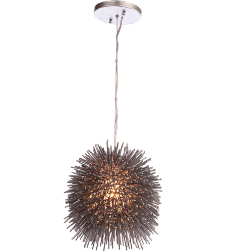 Varaluz Urchin 1 Light Mini Pendant in Painted Chrome 169M01CH photo
