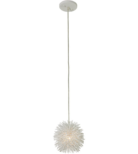Varaluz 169M01SWH Urchin 1 Light 6 inch White Mini Pendant Ceiling Light photo