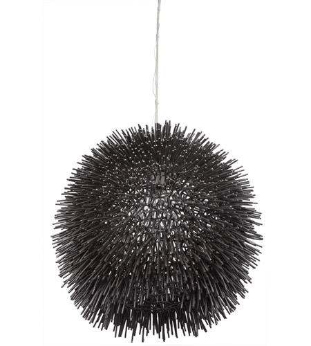 Varaluz Urchin 1 Light Pendant in Black 169P01BL photo