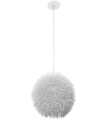 Varaluz Urchin 1 Light Pendant in White 169P01WH photo