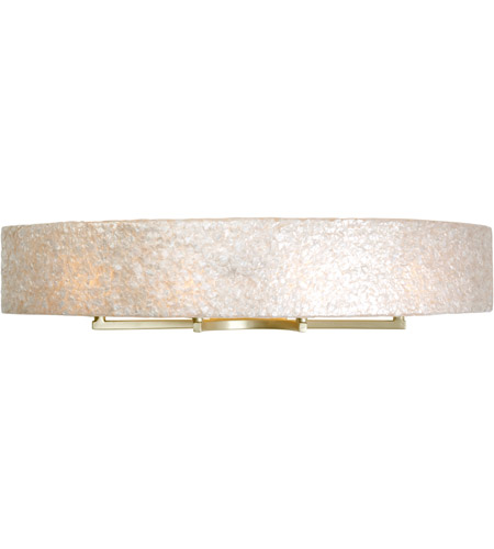 Varaluz 173B04A Radius 4 Light 36 inch Gold Dust Vanity Wall Light in Sustainable Crushed Natural Capiz Shell photo