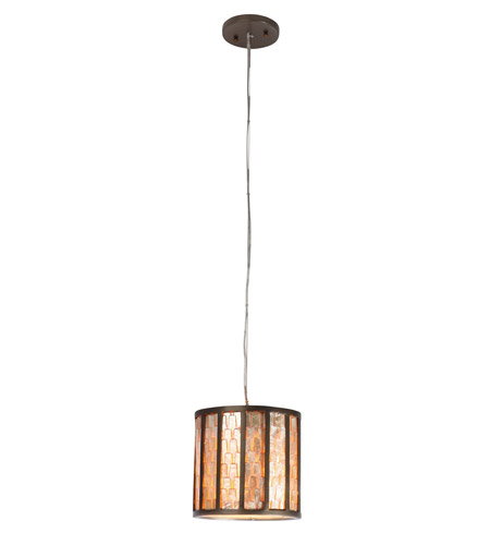 Varaluz 175M01 Affinity 1 Light 8 inch New Bronze Mini Pendant Ceiling Light photo