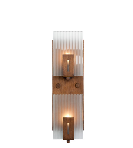 Recycled Varaluz Illusion Bath Light - Vertical Two Light in Hammered Ore 177W02 photo