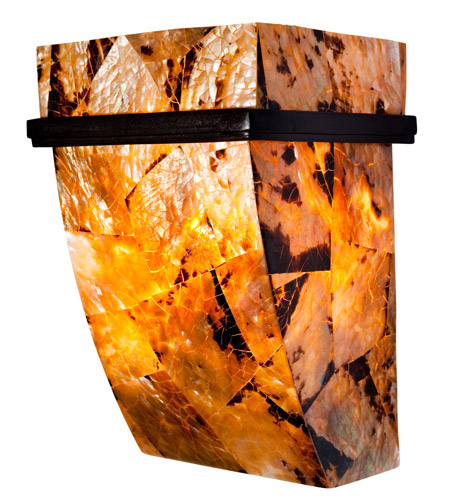 Varaluz 178K01B Big 1 Light 7 inch Brilliant Mojave Sconce Wall Light in Reclaimed Chocolate Tiger Shell photo