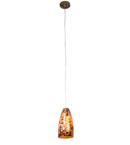 Varaluz Big 1 Light Mini Pendant in Reclaimed Chocolate Tiger Shell 178M01B photo