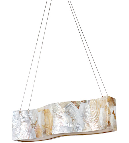 Varaluz Big 4 Light Linear Pendant in Reclaimed Kabebe Shell 178N05A photo