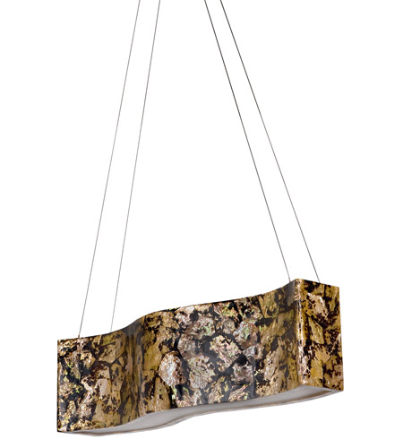 Varaluz 178N05B Big 4 Light 36 inch Linear Pendant Ceiling Light in Reclaimed Chocolate Tiger Shell photo
