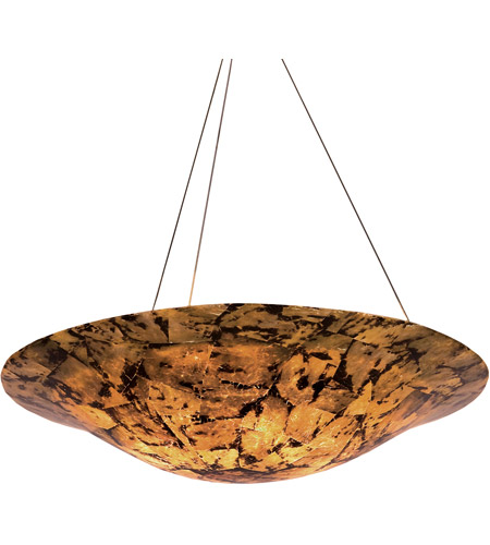 Varaluz Big 4 Light Chandelier in Reclaimed Chocolate Tiger Shell 178P04B photo