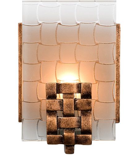 Varaluz 180B01 Dreamweaver 1 Light 5 inch Blackened Copper Vanity Wall Light photo