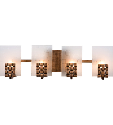 Varaluz Dreamweaver 4 Light Vanity in Blackened Copper 180B04 photo