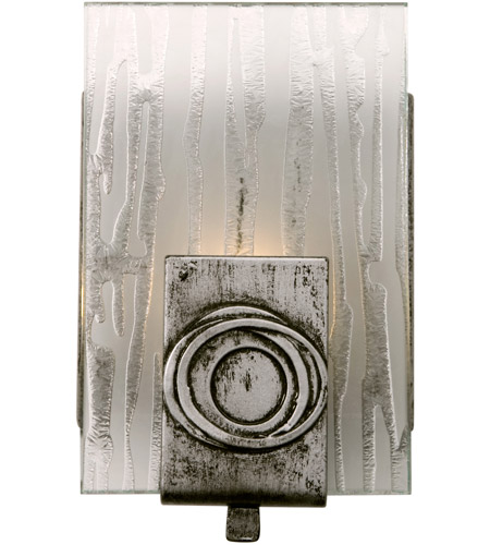 Varaluz Polar 1 Light Vanity in Blackened Silver 182B01 photo