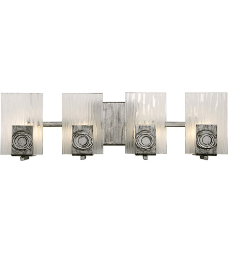 Varaluz 182B04 Polar 4 Light 22 inch Blackened Silver Vanity Wall Light photo
