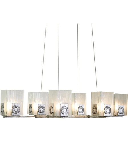 Varaluz 182N06 Polar 6 Light 36 inch Blackened Silver Chandelier Ceiling Light photo
