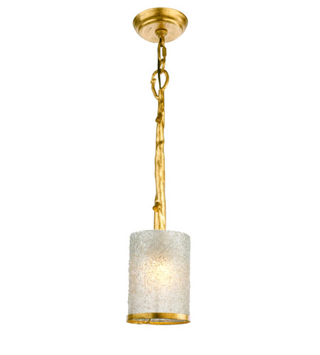 Recycled Varaluz Adura Halogen Mini Pendant w/ eco-Krystal in California Birch 189M01E photo