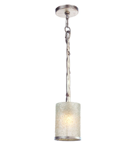 Recycled Varaluz Adura Halogen Mini Pendant w/ eco-Krystal in Winter Birch 189M01WBE photo