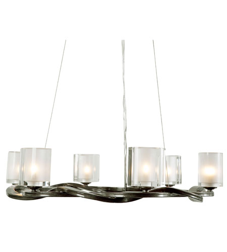 Recycled Varaluz Braid Chandelier - Six Light in Insignia 194C06 photo