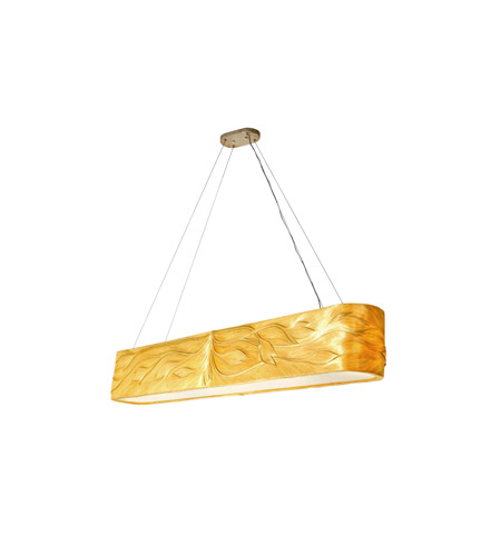 Varaluz Flair 8 Light Linear Pendant in Sustainable Natural Fibers 204N08 photo