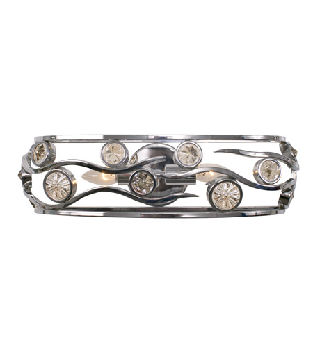 Varaluz Swank 2 Light Vanity Artisanal Hand-Worked Chrome with Recycled Champagne Glass 210B02CH photo