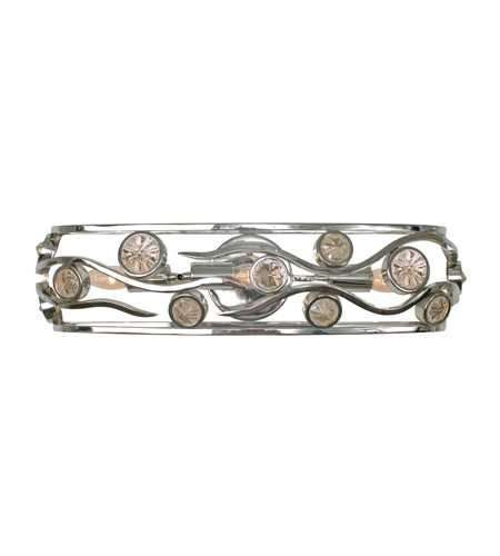 Varaluz Swank 3 Light Vanity Artisanal Hand-Worked Chrome with Recycled Champagne Glass 210B03CH photo