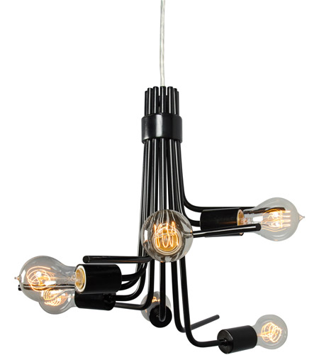 Varaluz Socket-To-Me 6 Light Chandelier in Black 219C06BL photo