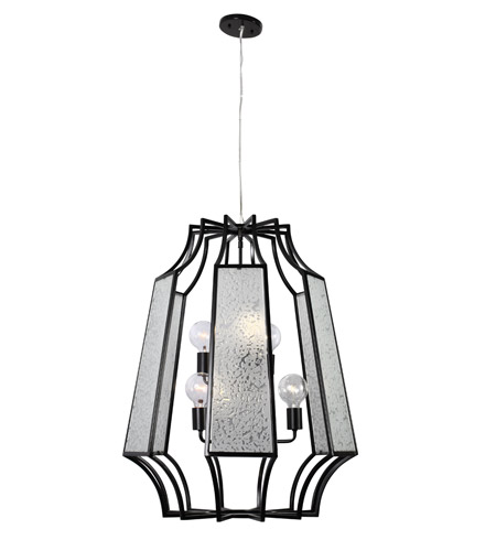 Varaluz Go-Go 6 Light Pendant in Black 220P06BL photo