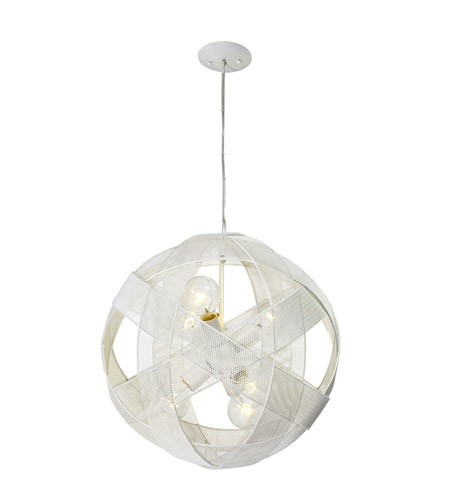 Varaluz At-Mesh-Sphere 6 Light Pendant in Pearl 228P06PE photo