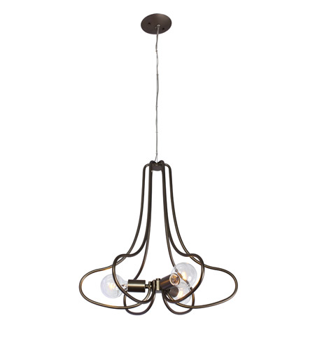 Varaluz 229C03NB The Whole Package 3 Light 20 inch New Bronze Chandelier Ceiling Light photo