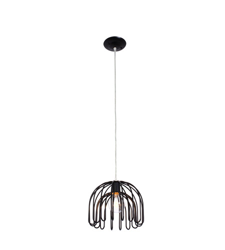 Varaluz Clyde 1 Light Mini Pendant in Black 232M01BL photo