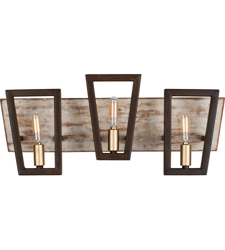 Dark Oak Zag Bathroom Vanity Lights