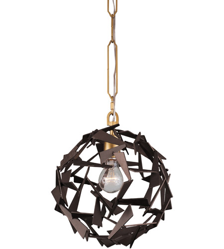 Varaluz 286P01AGRB Bermuda 1 Light 12 inch Antique Gold and Rustic Bronze Pendant Ceiling Light photo