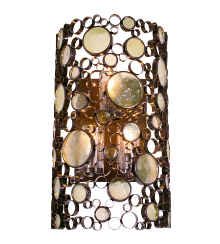 Varaluz Fascination 3 Light Outdoor Wall in Glossy Bronze 703KL03 photo