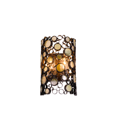 Varaluz Fascination 2 Light Outdoor Wall in Glossy Bronze 703KM02 photo