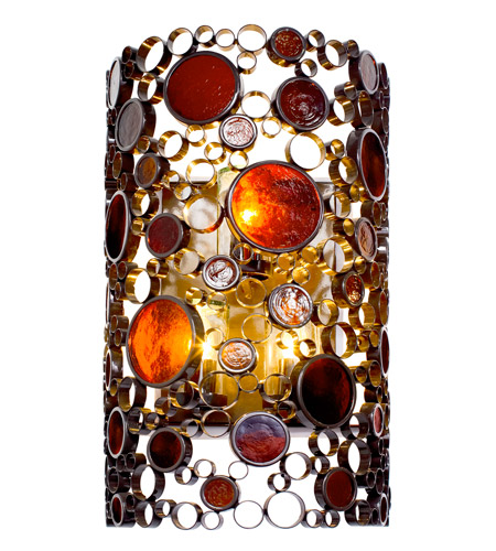Varaluz Fascination 3 Light Outdoor Wall in Glossy Bronze 765KL03 photo