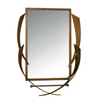 Varaluz Aizen Mirror in Hammered Ore w/ Aspen Bronze Accents 112A01 photo thumbnail