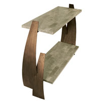 Varaluz Aizen Table in Hammered Ore w/ Aspen Bronze Accents 112A02 photo thumbnail
